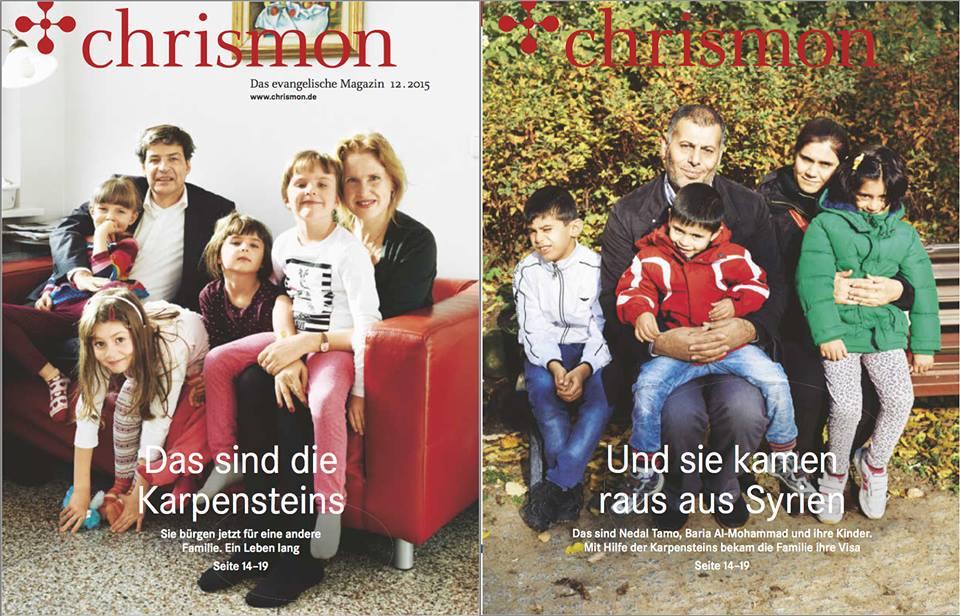 """CHRISMON Titelgeschichte """"Geradestehen, so geht das"""""""