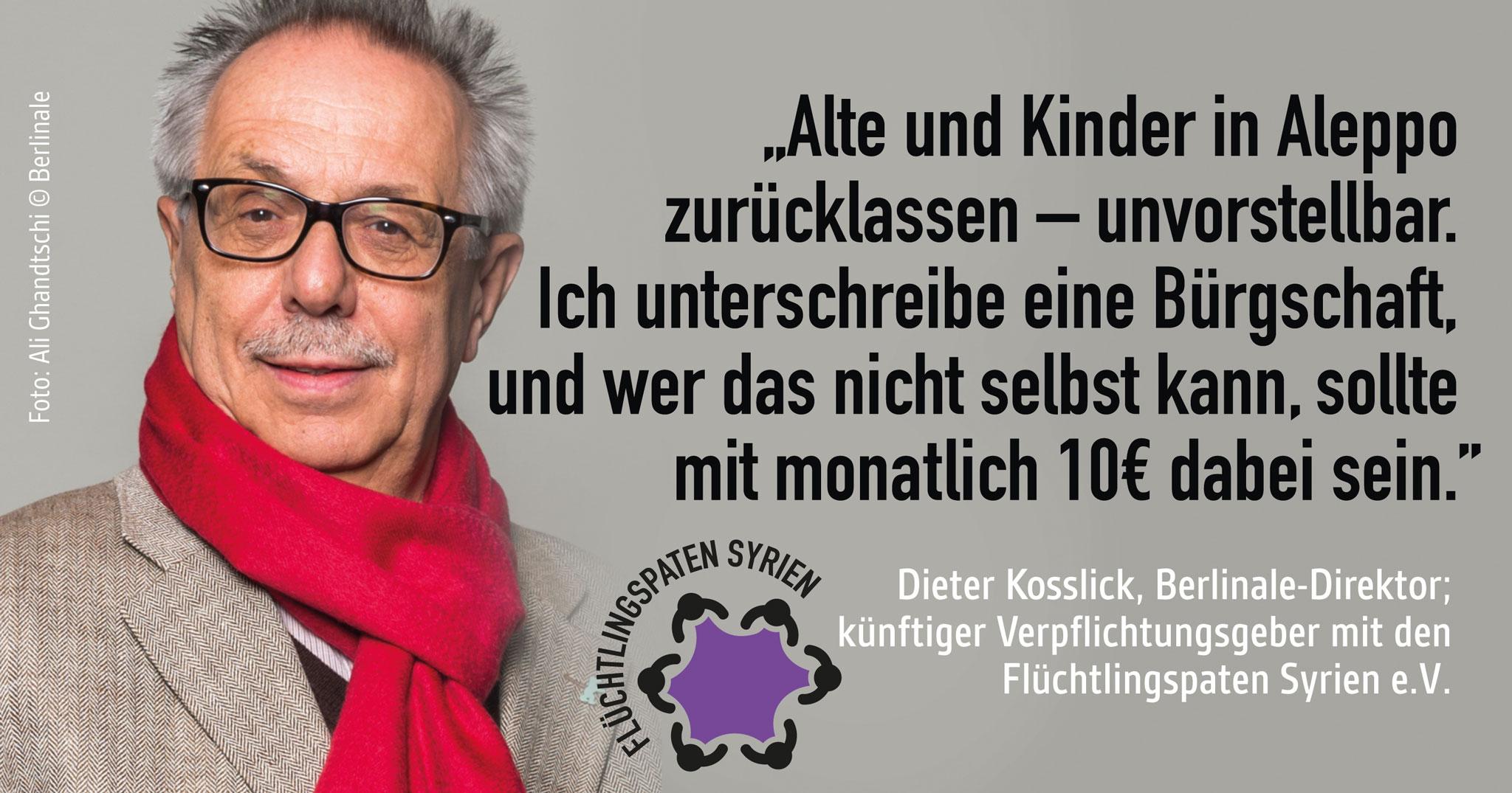 Not in Aleppo: Der Berlinale-Direktor wird Bürge!