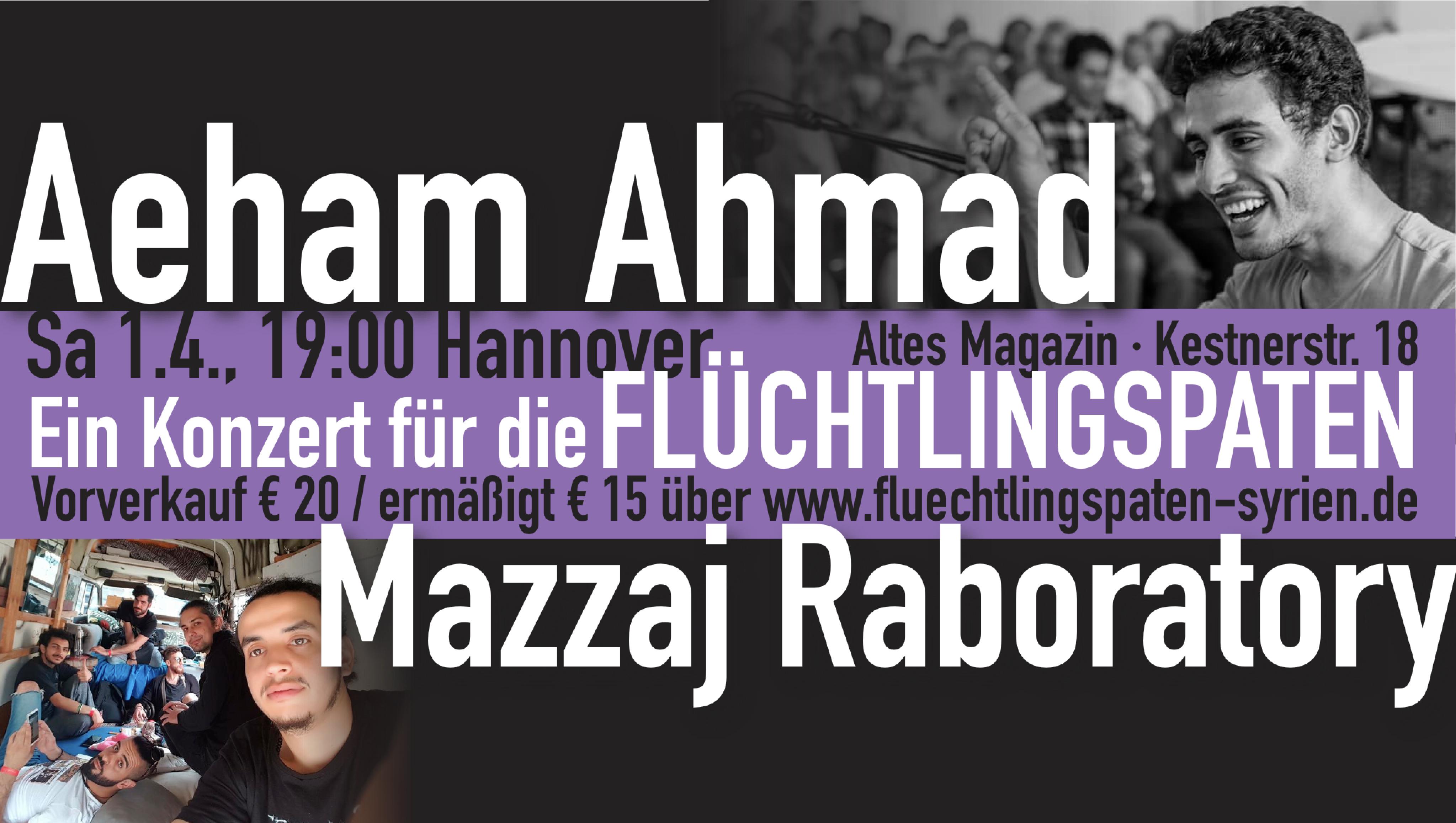 Aeham Ahmad / Mazzaj Raboratory: Ein Konzert für die Flüchtlingspaten! 1.4./19:00/Hannover