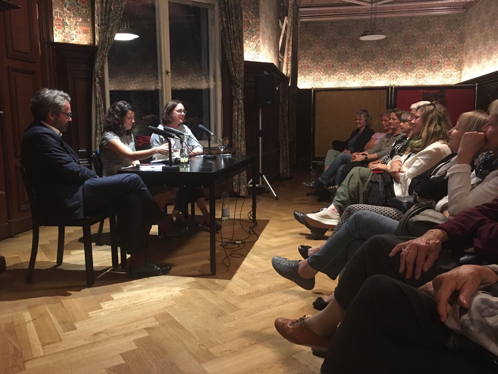 Toller Abend gestern im Literaturhaus Berlin!